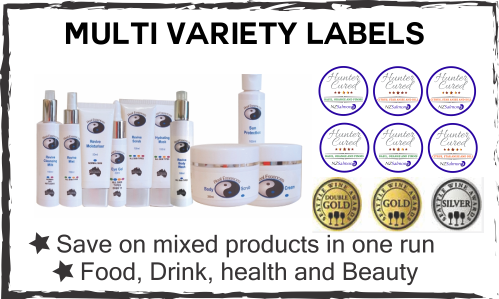 multi variety labels