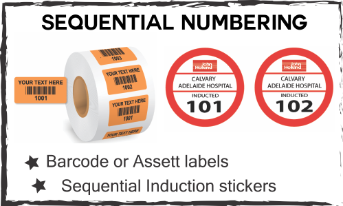sequential numbering labels
